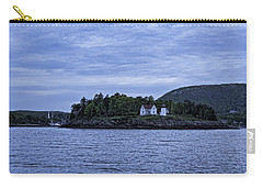 Carry-all Pouch featuring the photograph Camden Twilight N Curtis Island Light House by Daniel Hebard