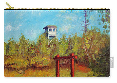 Carry-all Pouch featuring the painting Camel Top Fire Tower by Jason Williamson