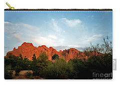 Camelback Mountain And Moon Carry-all Pouch
