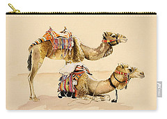 Camels From Petra Carry-all Pouch by Alison Cooper