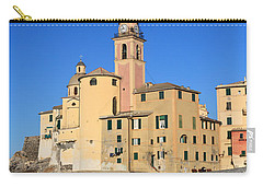 Carry-all Pouch featuring the photograph Camogli Seaside And Church by Antonio Scarpi