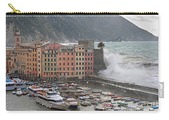 Carry-all Pouch featuring the photograph Camogli Under A Storm by Antonio Scarpi