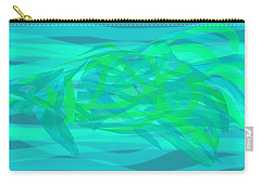 Carry-all Pouch featuring the digital art Camouflage Fish by Stephanie Grant