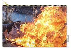 Carry-all Pouch featuring the photograph Campfire by James Peterson