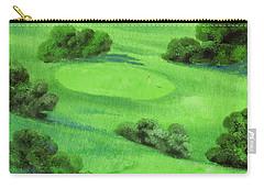 Campo Da Golf Di Notte Carry-all Pouch by Guido Borelli