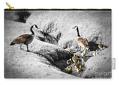 Canada Geese Family Carry-all Pouch by Elena Elisseeva