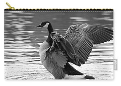 Canada Goose Black And White Carry-all Pouch by Sharon Talson