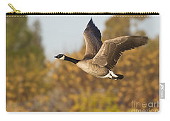 Carry-all Pouch featuring the photograph Canada Goose In The Skies  by Bryan Keil