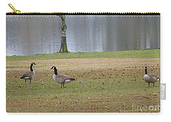 Canadian Geese Tourists Carry-all Pouch by Joseph Baril
