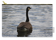 Canadian Goose On The Water Carry-all Pouch