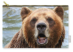 Canadian Grizzly Carry-all Pouch by Davandra Cribbie