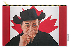 Canadian Icon Stompin' Tom Conners  Carry-all Pouch by Sharon Duguay