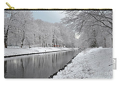 Canal In Winter Carry-all Pouch by Randi Grace Nilsberg