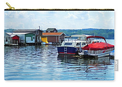Canandaigua Fishing Shacks Carry-all Pouch by Susan Savad