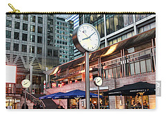 Canary Wharf Twilight Carry-all Pouch by Jasna Buncic