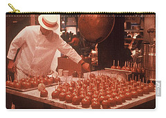 Carry-all Pouch featuring the photograph Candy Apple Man by Rodney Lee Williams