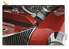 Candy Apple Red And Chrome Carry-all Pouch