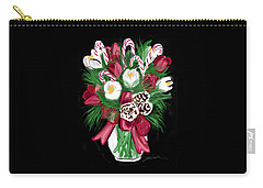 Candy Cane Bouquet Carry-all Pouch