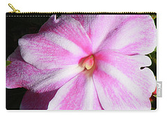 Candy Cane Impatiens Carry-all Pouch by Barbara Griffin