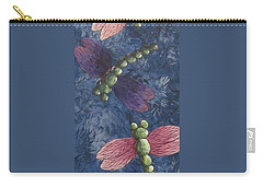 Carry-all Pouch featuring the painting Candy-winged Dragons by Megan Walsh