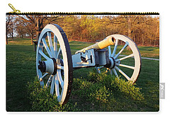 Carry-all Pouch featuring the photograph Cannon In The Grass by Michael Porchik
