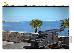 Cannon Of Castillo De San Marcos Carry-all Pouch by Chris Thomas