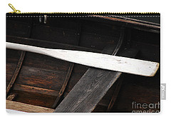 Carry-all Pouch featuring the photograph Canoe And Oar by Mary Carol Story