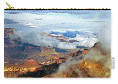 Carry-all Pouch featuring the photograph Canyon Clouds by Alan Socolik