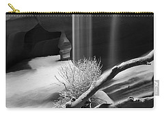 Carry-all Pouch featuring the photograph Canyon Sandfall by Bryan Keil