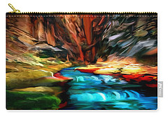 Canyon Waterfall Impressions Carry-all Pouch
