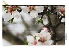 Capay Valley Almond Blossom Carry-all Pouch by Jennifer Muller