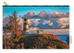 Cape Disappointment Light House Carry-all Pouch by James Heckt