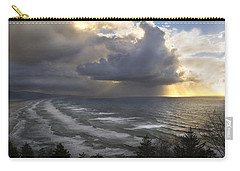 Carry-all Pouch featuring the photograph Sunset At Cape Lookout Oregon Coast by Yulia Kazansky