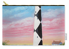 Carry-all Pouch featuring the painting Cape Lookout Sunset by Fran Brooks