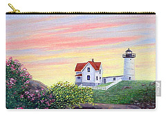 Carry-all Pouch featuring the painting Cape Neddick Sunrise by Fran Brooks