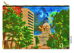 Capital - Jefferson City Missouri - Painting Carry-all Pouch by Liane Wright