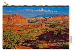 Carry-all Pouch featuring the photograph Capitol Reef Landscape by Greg Norrell