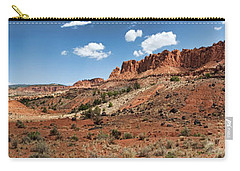 Carry-all Pouch featuring the photograph Capitol Reef Panorama No. 1 by Tammy Wetzel