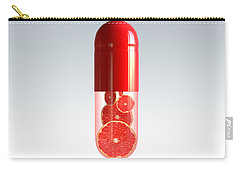 Capsule With Citrus Fruit Carry-all Pouch by Johan Swanepoel