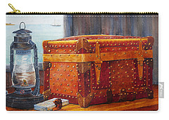 Carry-all Pouch featuring the painting Capt. Murray's Chest by Roger Rockefeller