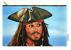 Captain Jack Sparrow Painting Carry-all Pouch by Paul Meijering