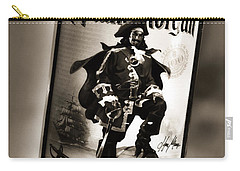 Captain Morgan Black And White Carry-all Pouch by Janie Johnson