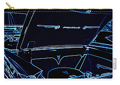 Carry-all Pouch featuring the digital art Car Blues by Bobbee Rickard