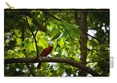 Cardinal In The Trees Carry-all Pouch