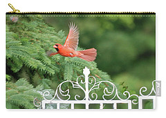 Carry-all Pouch featuring the photograph Cardinal Time To Soar by Thomas Woolworth
