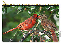 Cardinal Bird Valentines Love  Carry-all Pouch
