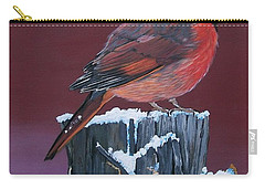 Cardinal Winter Songbird Carry-all Pouch