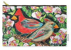 Cardinals In An Apple Tree Carry-all Pouch