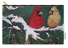 Cardinals In The Snow Carry-all Pouch