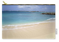 Caribbean Beach Front Carry-all Pouch by Fiona Kennard